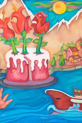 La tarta, la mano y el mar